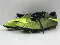 Kids Soccer Cleats Size 5Y Nike JR Bravata II FG (844442 070) Black/Volt Youth