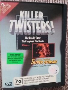 KILLER TWISTERS & SUPER STORMS - DISASTER - DOUBLE FEATURE DVD R4 RARE EX RENTAL