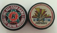 1993 & 1994 IHL All Star Game Puck Lot VINTAGE