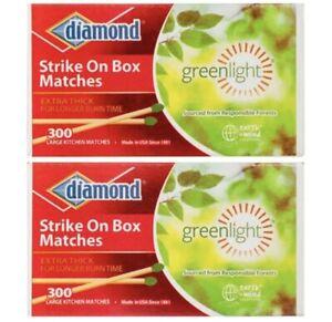 600 Pcs  DIAMOND WOODEN KITCHEN GREENLIGHT MATCHES