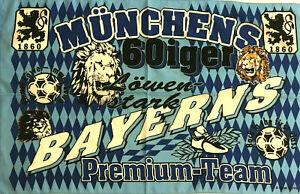 TSV 1860 München - München 60iger - Fahne Flagge Flag Fussball #526