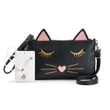 Phone Charging Crossbody Bag Cute Cat Kitten Purse Handbag With Tags