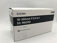 New SIGMA 18-300mm f/3.5-6.3 DC MACRO OS HSM Contemporary Lens for CANON EF