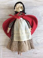 """Antique Vintage Jointed Penny Peg Wooden Doll 11 1/2"""" Herr Insam Germany Woman"""