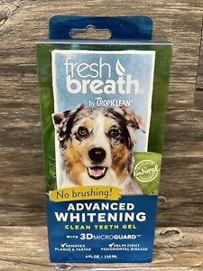 Advanced Whitening Cleaning Gel Dog Dental Care Kit 4oz Fresh Breath Clean Teeth