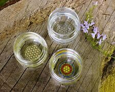 Vitalwasser-Trinkglas Mythos Blume des Lebens
