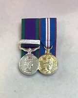 GSM Northern Ireland & Golden Jubilee Court Mounted Miniature Medals, Army