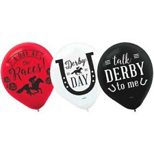 Kentucky Derby Latex Balloons (15) ~ Birthday Party Supplies Helium Decoration