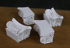 4  IONIC  COLUMN  CAPITALS  ~CAPS ~Engaged~ Dollhouse Miniature~ 1:12 ~ Room Box