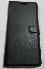 Galaxy Note 8 Wallet Case Black Leather Flip