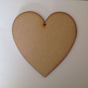 hearts Large wooden 20cm,6mm thick with one hole.x3