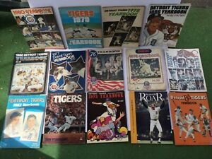 Lot of 13 Detroit Tigers Yearbooks - Baseball