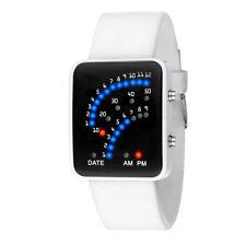 Womens Mens Futuristic Multicolor Digital Quartz LED Japanese Wrist Watch *