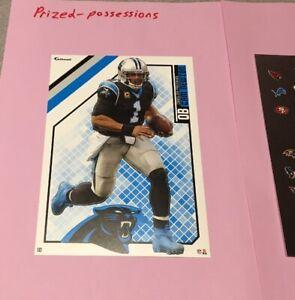 "Cam Newton Fathead Tradeable 5"" x 7"" with Carolina Panthers logo"