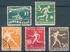 Niederlande Lot mit 5 Werten Mi.-Nr.205-212 mit 210D o (MICHEL € 118,00)