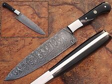 Handmade Damascus Steel Chef Knife Buffalo Horn Black Handle (SDM-2154)