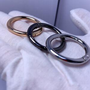 5pcs Key Ring Clasp Key Hook Round Clasps Detachable Keyring Dog Chain BucklBDB