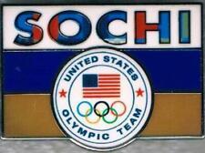 2014 Sochi Russian Flag USA Olympic Team NOC Pin