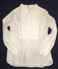 Crewcuts Tunic 10 Popover b1384 NEW White Cotton Shirt $49.50