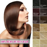 """8pcs Full Head 16""""18""""20""""22""""24""""26"""" Clip in 100% Remy Real Human Hair Extensions"""