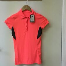 Track & Field lady Athletic jersey brand new size small neon salmon & gray