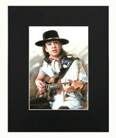 Stevie Ray Vaughan playing guitar Portrait Art Print Picture Display Decor 8x10
