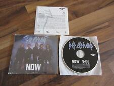 DEF LEPPARD Now 2002 EUROPEAN promo CD single + rare german promo info