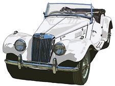 MG MG-TF 1500 sports car Richard Browne canvas print - White MG TF