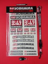 "YOSHIMURA 12"" X 19"" DECAL STICKER SHEET, LANYARD, RS-4 KEYCHAIN, & LOGO KEY FOB!"