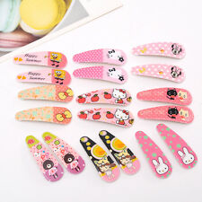 8pcs Snap Hair Clip Hairpin Barrette Headwear Accessories Baby Girl Children