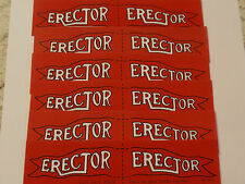 6 Erector Set Flags ( Aj) - Nice Coppies for your Erector set.-