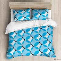 Group Of Blue Dots 3D Quilt Duvet Doona Cover Set Single Double Queen King Print