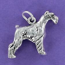 Schnauzer Dog Large Charm Sterling Silver for Bracelet Giant Miniature Standard