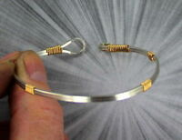 Bracelet in 14kt. Rolled Gold and Sterling Silver Wire Wrapped Size 6 to 9