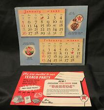 Vintage 1941 Jan-Feb Calendar Page and Texaco Party Invitation Card