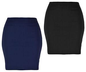 "Ladies/Womens Mini Skirt, Stretch Fabric, 18"" Length KK05"
