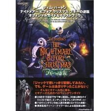 Tim Burton NIGHTMARE BEFORE CHRISTMAS Official Guide Illustration Book /PS2