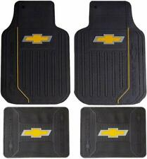 4PC Plasticolor Chevy Elite Bowtie Heavy Duty Rubber Front Rear Floor Mats
