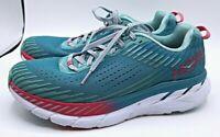 Hoka One One Women's Clifton 5 Aqua/Pink Rose Running Shoes Size 10