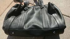 Damenhandtasche schwarz echtes Leder VLD voi