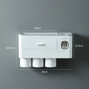 Magnetic Adsorption Inverted Toothbrush Holder Automatic Toothpaste Dispenser NW