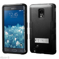 For Samsung Galaxy Note Edge N915 Tuff HYBRID Hard Protective Case Cover BLACK