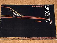 1980 PEUGEOT 505 SALOON Brochure - GR, SR, TI, STI, GRD, SRD