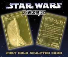 *STAR WARS Return of the Jedi* 23KT Gold Card* fully licensed *serial numbered.
