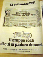 PUBBLICITA' ADVERTISING WERBUNG 1980 OLDAXE ROCK (A13)