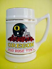 Oregon Ducks Mug Stein Football 2010 Rose Bowl Bcs University of Oregon New