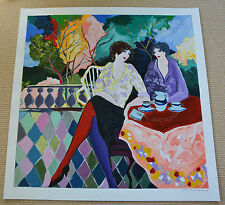 """Tarkay """"AFTERNOON TEA"""" RARE Serigraph Signed Numbered w/ Park West COA/Appraisal"""