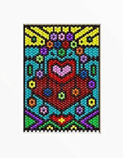 Stainglass Hearts And Flowers Beaded Banner Pattern