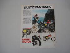 advertising Pubblicità 1975 FANTIC CABALLERO 125  RC
