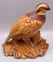 "Quail Bird Holland Mold Ceramic Figurine 7"" Tall Vintage Hand Painted Pottery"